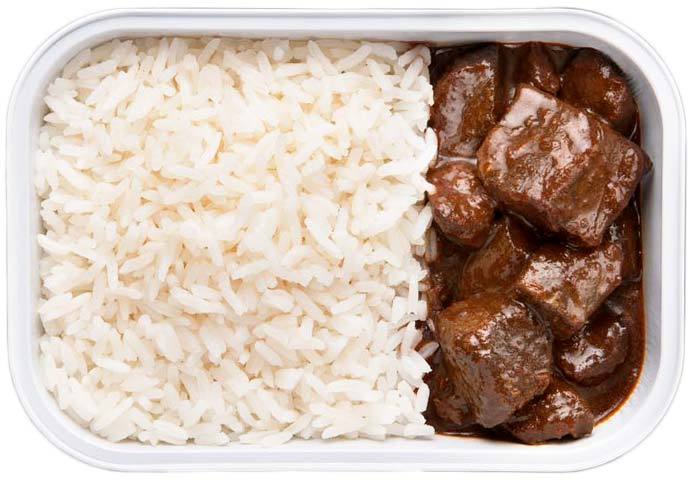 Rice with Beef in Black Sauce