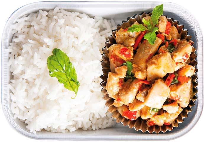 ML Noi's Basil Fried Chicken on Rice