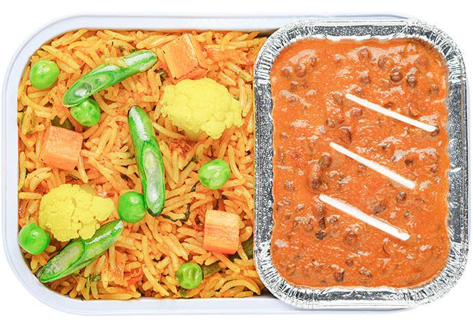 Hyderabadi Vegetable Biryani with Dal Makhani