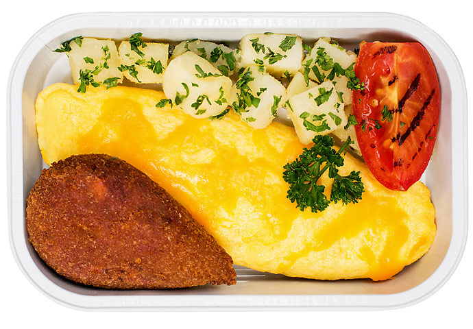 Cheddar Cheese Omellete with Beetroot Cutlet