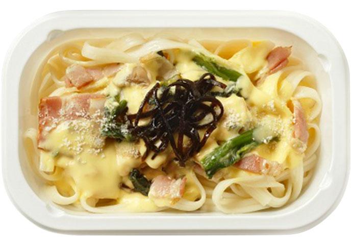 Kishibonara (Nagoya Taste Carbonara with Kishimen)