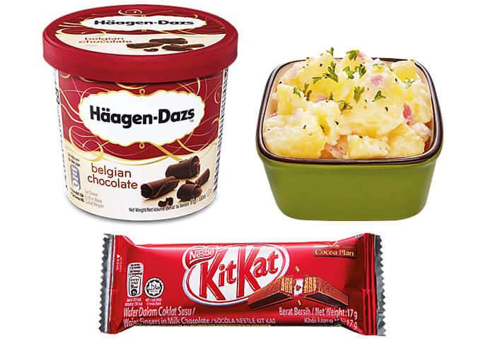 Potato Salad + Kit Kat + Haagen Daz