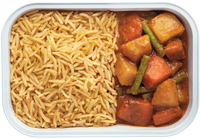 Vegetable Curry with Biryani Rice