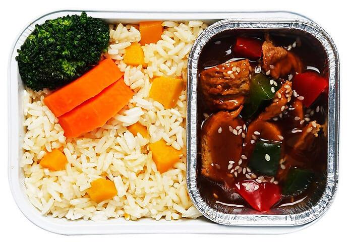 Vegetarian Chicken with Pumpkin Rice