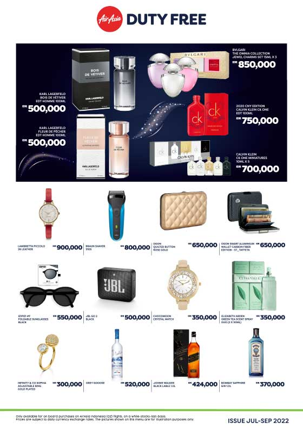AirAsia Duty-Free & Merchandise catalogue for QZ flight