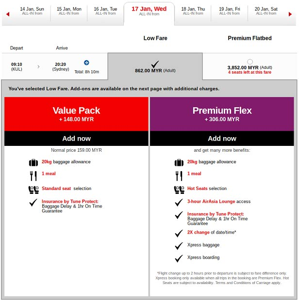 AirAsia Value Pack