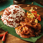Nasi Dagang with Chicken Curry