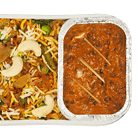 Hyderabadi Vegetable Biryani with Dal Bukhara