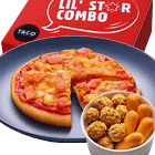 Lil' Star Combo Pizza Mini + Chicken Bites Mini + Makanan Ringan