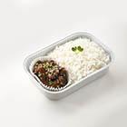 麻油炒牛肉配米飯