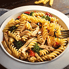 Vegetable Pasta with Roast Chicken