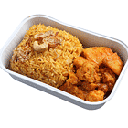 印度香飯搭配蔬菜咖哩