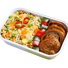 Ginger Fried Rice with Vegetarian Chicken (V)