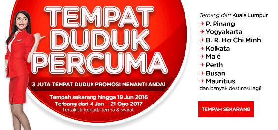 AirAsia and AirAsia X Free Seats BM