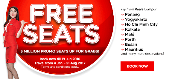 AirAsia and AirAsia X Free Seats EN