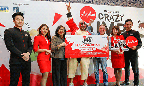 AirAsia and AJ Hackett Gather Bungy Battlers For Crazy Jump Day at Macau Tower