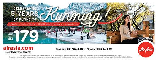 AirAsia increases flights to Kunming, China