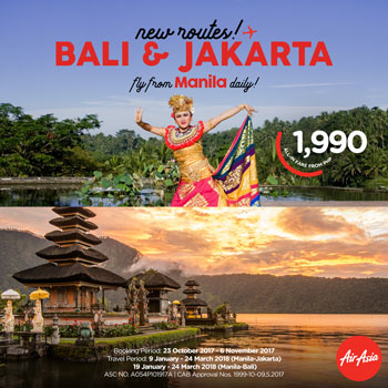 AirAsia offers promo seats to Bali and Jakarta