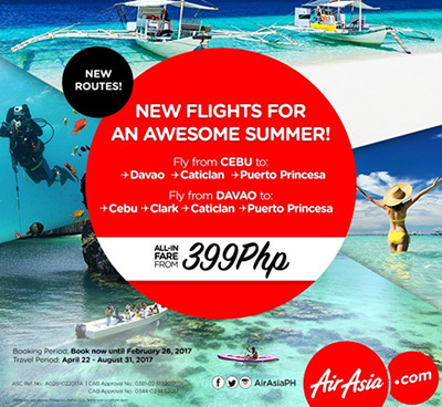 AirAsia expands network with seven brand new destinations in Cebu, Davao, Boracay, Palawan, and Clark