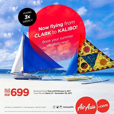 AirAsia reconnects Clark – Kalibo with 3x flights weekly