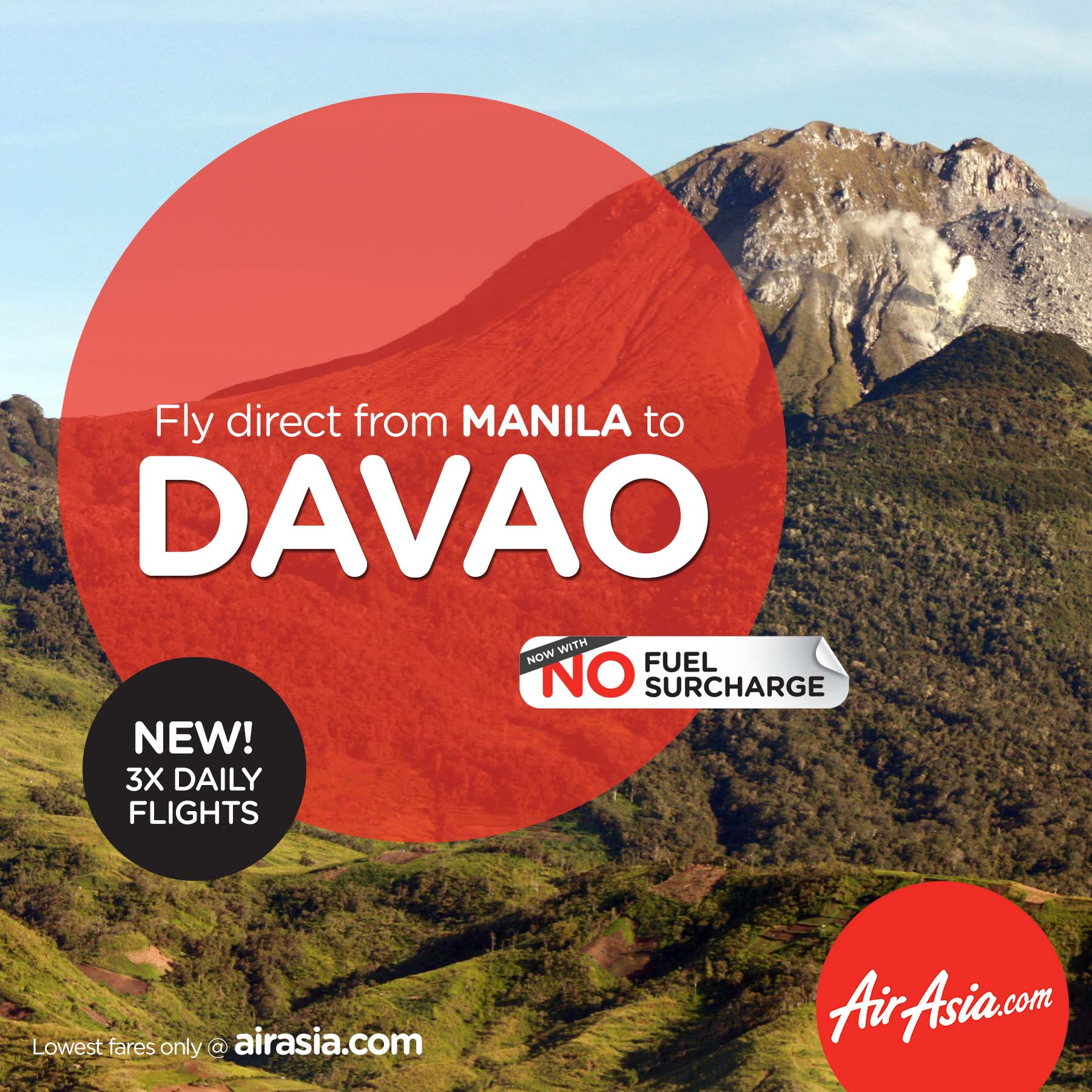 AirAsia Philippines reconnects Manila-Davao with 3x flights daily