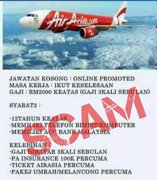 SCAM ALERT Recruitment scam using AirAsia name