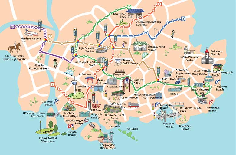 Subway Map Of Busan.Busan Tour Bus Map Myvacationplan Org