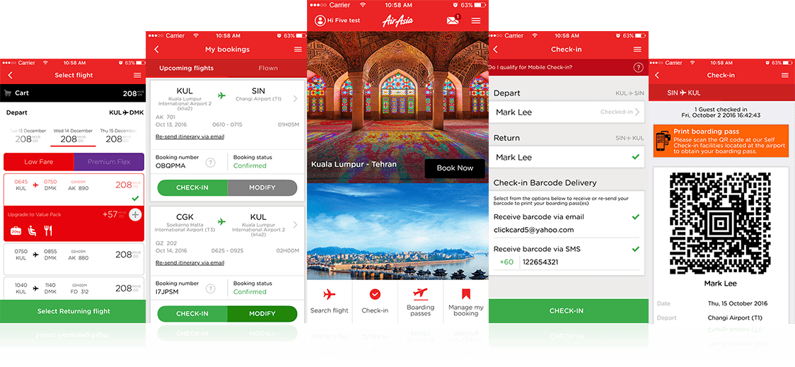 Mobile App For Android And Ios To Book Manage And Check In Airasia