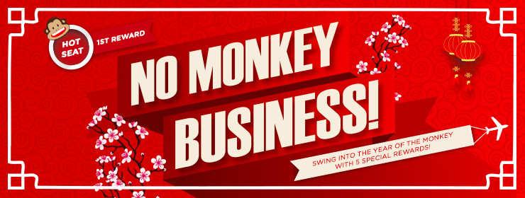 "No Monkey Business ""Free Hot Seats Upgrade Promo"""