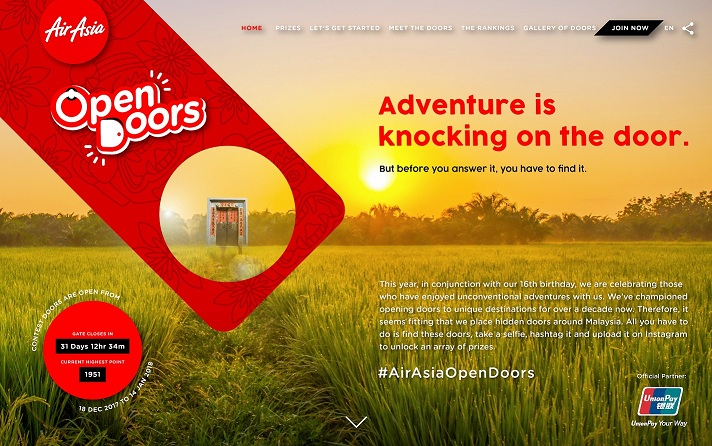 Over Two Million BIG Points Await With The #AirAsiaOpenDoors Campaign