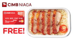 Free Inflight Meal Chicken Rice