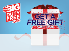 Pre-book duty free and get a FREE GIFT worth RM70!