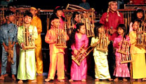 Book flights online to Bandung and enjoy Angklung performance