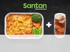 SB July Chicken Lasagne Santan Combo Meal