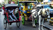 Travel to Yogyakarta with cheapest airfare and experience Malioboro