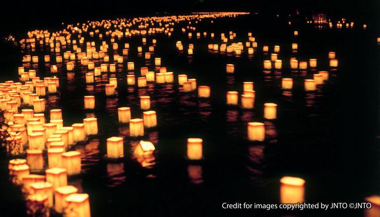 โอบ้ง-มัตสึริ เทศกาลโคมไฟ Obon Matsuri (เส้นทางโตเกียวและโอซาก้า)