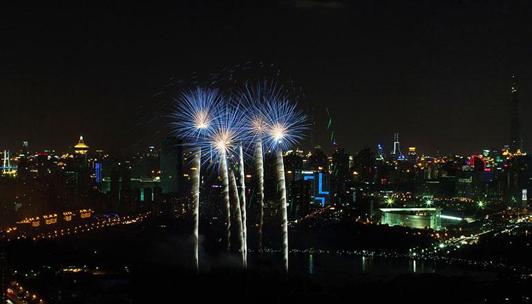 เทศกาลดอกไม้ไฟและดนตรีนานาชาติ International Music and Fireworks Festival (เส้นทางเซี่ยงไฮ้)