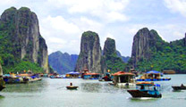 Book flights online to Hanoi and experience the Halong Bay