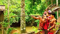 Travel to Kota Kinabalu with cheapest airfare and experience Mari-Mari Cultural Village
