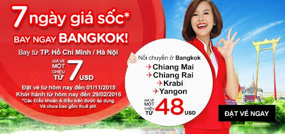 Bay ngay Bangkok với giá siêu rẻ của AirAsia