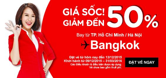 Bay Malaysia siêu rẻ (20 USD một chiều), bay Bangkok giảm 50%