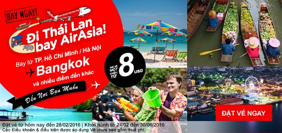 Bạt ngàn vé siêu rẻ đi Malaysia, Thái của AirAsia