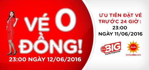 Đêm nay săn vé 0 đồng của AirAsia