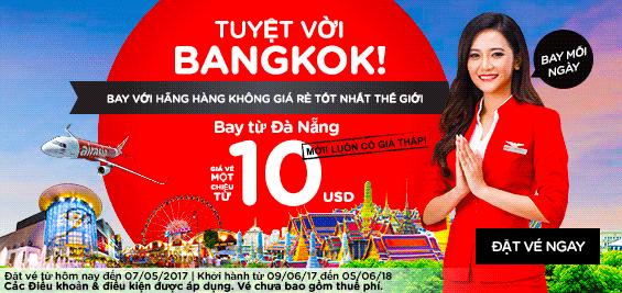 Đà Nẵng bay thẳng Bangkok, giá siêu rẻ chỉ 66 USD khứ hồi trọn gói thuế phí