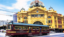 Book flights online to Melbourne and experience City Circle Tram