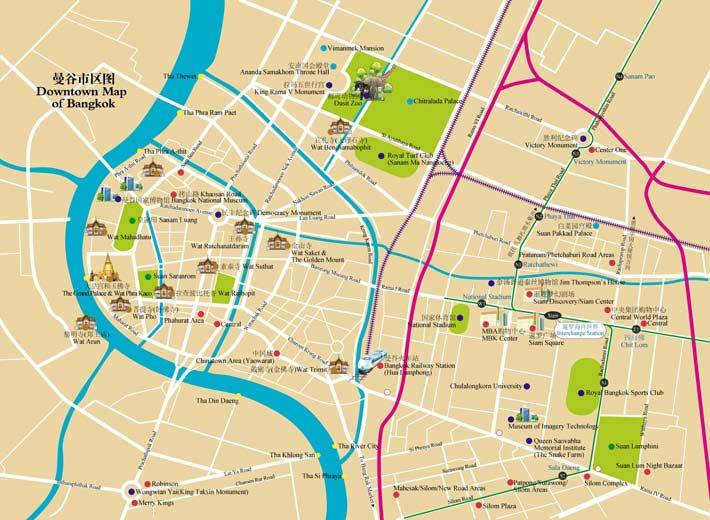 曼谷旅游景点地图