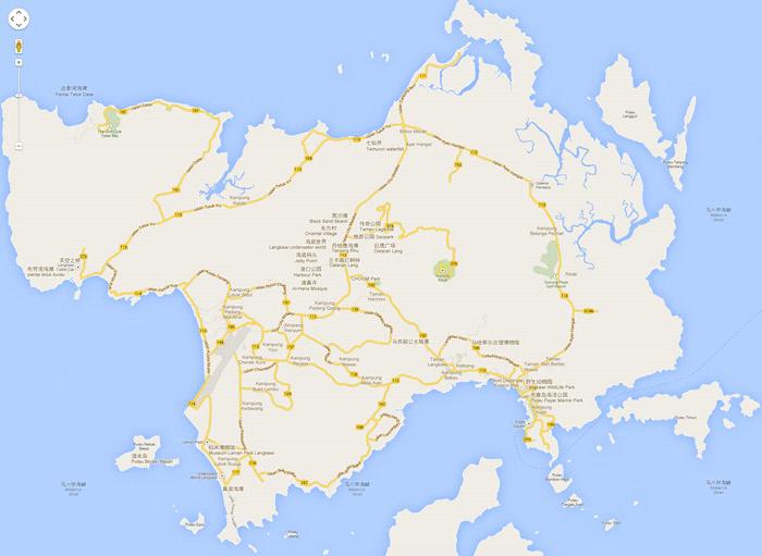 兰卡威旅游景点地图