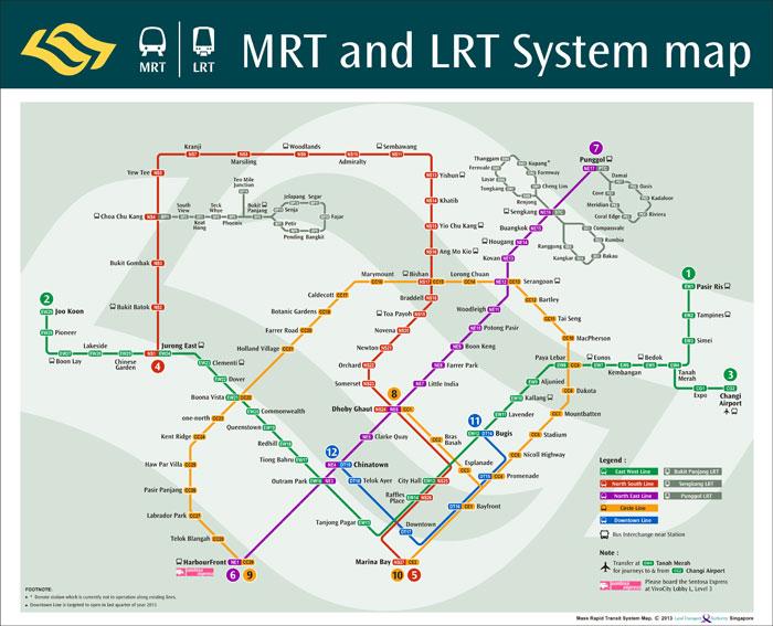 新加坡地铁图
