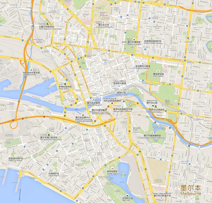 墨尔本旅游景点地图
