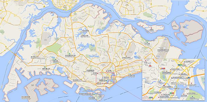 新加坡旅游景点地图